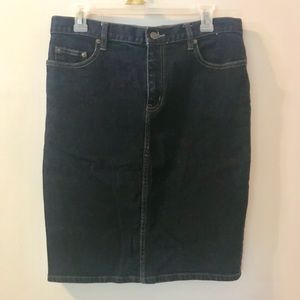 Ralph Lauren Denim Pencil Skirt